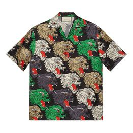 7bae439d2 Product Gucci Allover Panther Print Silk Camp Shirt (Video) Page - 1